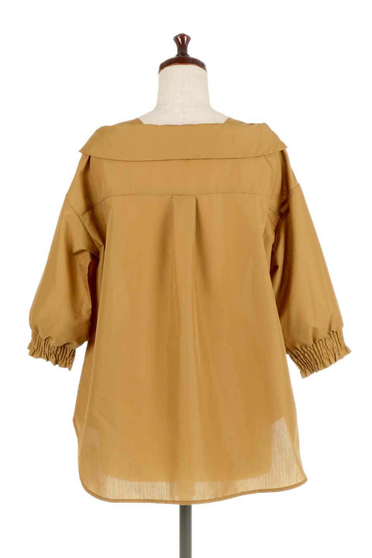 3/4SleeveFoldedCollarblouse7分袖・フォールドカラーブラウス大人カジュアルに最適な海外ファッションのothers(その他インポートアイテム)のトップスやシャツ・ブラウス。襟元が特徴のフォールドカラーブラウス。背中を抜いたときのシルエットが絶品の春ブラウス。/main-9