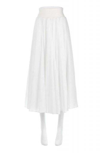 海外ファッションや大人カジュアルに最適なインポートセレクトアイテムのCircular Skirt (Solid) 脚長フレアスカート