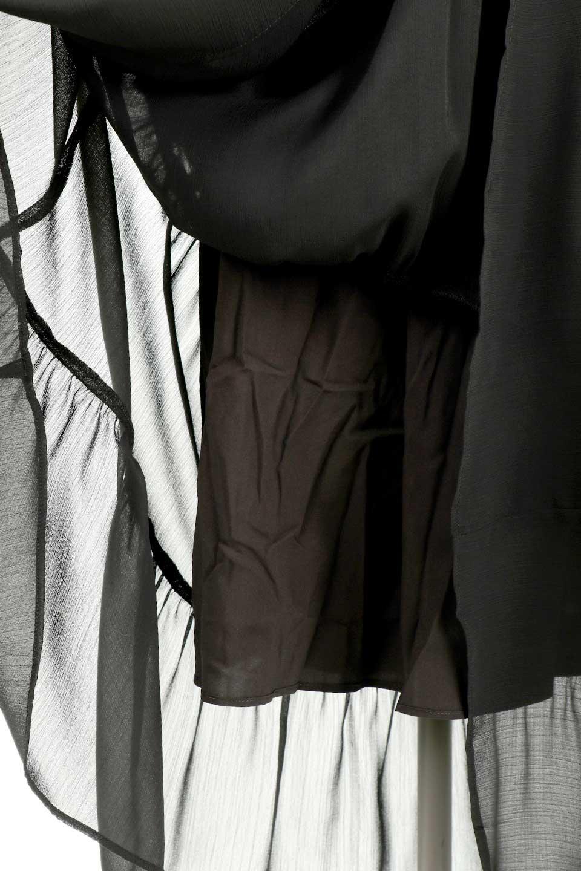 RuffleSleeveChiffonDressラッフルスリーブ・ロングドレスfromDenmark大人カジュアルに最適な海外ファッションのothers(その他インポートアイテム)のワンピースやマキシワンピース。肩のヒラヒラが可愛いブラックのロングドレス。素材はソフトで透け感のあるシフォン生地で安心のウエストゴム仕様。/main-14
