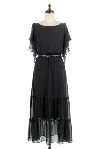 Ruffle Sleeve Chiffon Dress ラッフルスリーブ・ロングドレス from Denmark / 大人カジュアルに最適な海外ファッションが得意な福島市のセレクトショップbloom