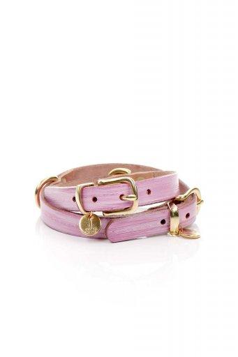 Lowlands COUTUREのMilky Pink ミルキーピンク・本革ドッグカラー