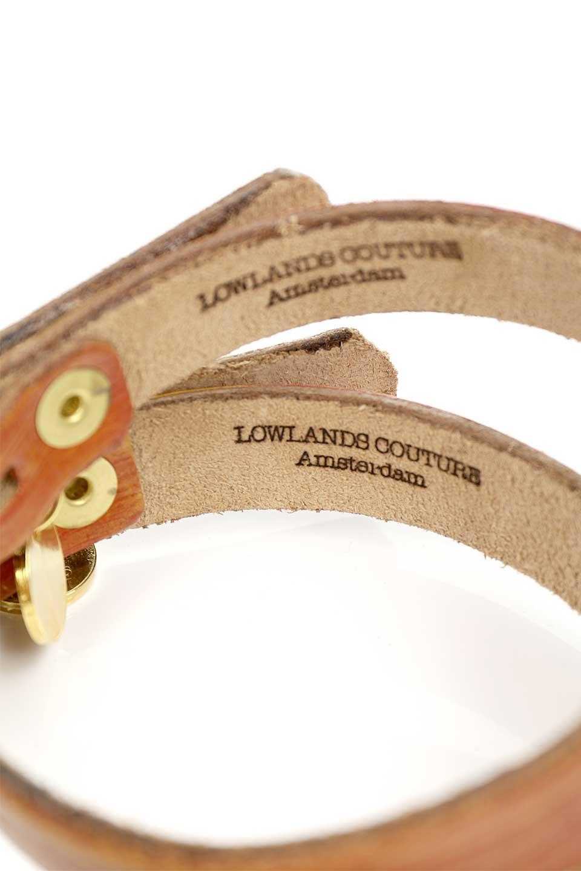 LowlandsCOUTUREのKingsDayOrangeキングスデイオレンジ・本革ドッグカラー/LowlandsCoutureのドッググッズや。表面のテクスチャード加工とエイジング加工がシックな本革ドッグカラー。オレンジとブラウンのアンティーク風な雰囲気。/main-10
