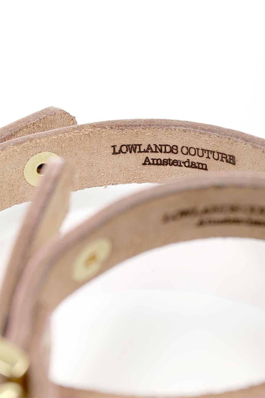 LowlandsCOUTUREのWildRomance#1ワイルドロマンス#1・本革ドッグカラー/LowlandsCoutureのドッググッズや。エイジング加工のレザーとハラコの組み合わせが可愛い本革ドッグカラー。淡いピンクとダルメシアン柄のコントラストが目を引きワンちゃんを引き立ててくれます。/main-10