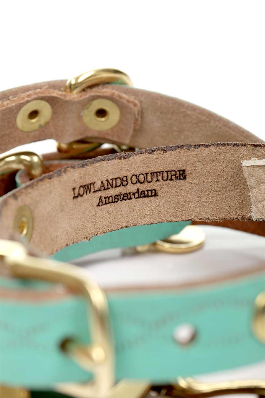 LowlandsCOUTUREのWildRomance#3ワイルドロマンス#3・本革ドッグカラー/LowlandsCoutureのドッググッズや。エイジング加工のレザーとハラコの組み合わせが可愛い本革ドッグカラー。ターコイズブルーとダルメシアン柄のコントラストが目を引きワンちゃんを引き立ててくれます。/main-10