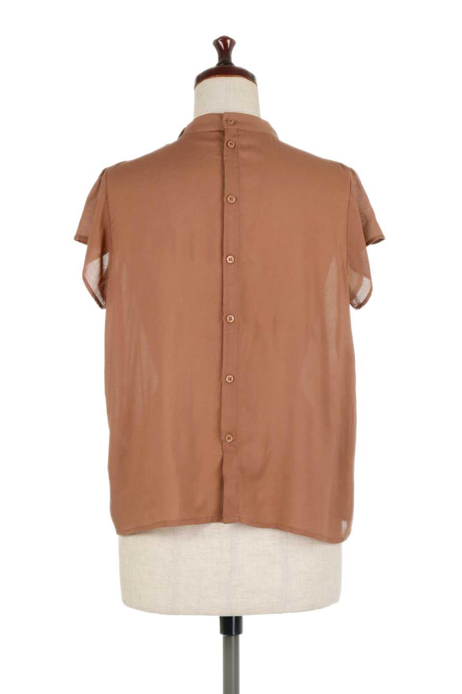 BackButtonGatherNeckBlouseバックボタン・ギャザーネックブラウス大人カジュアルに最適な海外ファッションのothers(その他インポートアイテム)のトップスやシャツ・ブラウス。ギャザーネックのドレープ感が特徴の半袖ブラウス。ゆとりのあるシルエットにチューリップスリーブの組み合わせも可愛いアイテム。/main-14