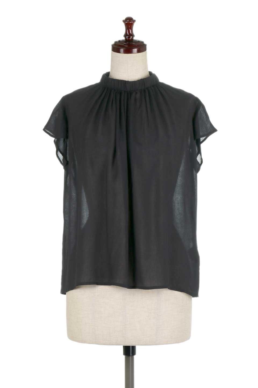 BackButtonGatherNeckBlouseバックボタン・ギャザーネックブラウス大人カジュアルに最適な海外ファッションのothers(その他インポートアイテム)のトップスやシャツ・ブラウス。ギャザーネックのドレープ感が特徴の半袖ブラウス。ゆとりのあるシルエットにチューリップスリーブの組み合わせも可愛いアイテム。/main-15