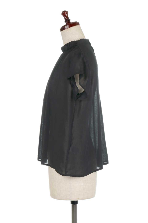 BackButtonGatherNeckBlouseバックボタン・ギャザーネックブラウス大人カジュアルに最適な海外ファッションのothers(その他インポートアイテム)のトップスやシャツ・ブラウス。ギャザーネックのドレープ感が特徴の半袖ブラウス。ゆとりのあるシルエットにチューリップスリーブの組み合わせも可愛いアイテム。/main-17
