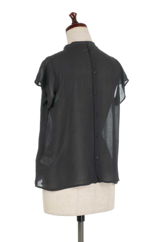 BackButtonGatherNeckBlouseバックボタン・ギャザーネックブラウス大人カジュアルに最適な海外ファッションのothers(その他インポートアイテム)のトップスやシャツ・ブラウス。ギャザーネックのドレープ感が特徴の半袖ブラウス。ゆとりのあるシルエットにチューリップスリーブの組み合わせも可愛いアイテム。/main-18