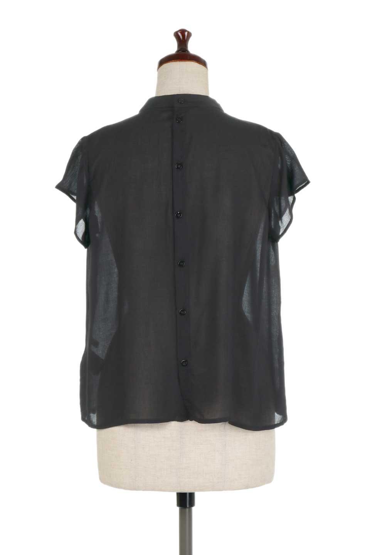BackButtonGatherNeckBlouseバックボタン・ギャザーネックブラウス大人カジュアルに最適な海外ファッションのothers(その他インポートアイテム)のトップスやシャツ・ブラウス。ギャザーネックのドレープ感が特徴の半袖ブラウス。ゆとりのあるシルエットにチューリップスリーブの組み合わせも可愛いアイテム。/main-19