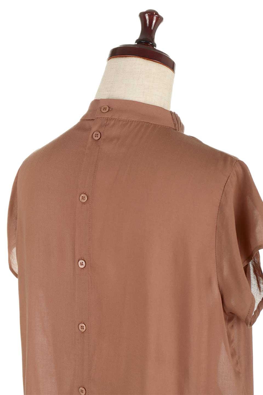 BackButtonGatherNeckBlouseバックボタン・ギャザーネックブラウス大人カジュアルに最適な海外ファッションのothers(その他インポートアイテム)のトップスやシャツ・ブラウス。ギャザーネックのドレープ感が特徴の半袖ブラウス。ゆとりのあるシルエットにチューリップスリーブの組み合わせも可愛いアイテム。/main-23