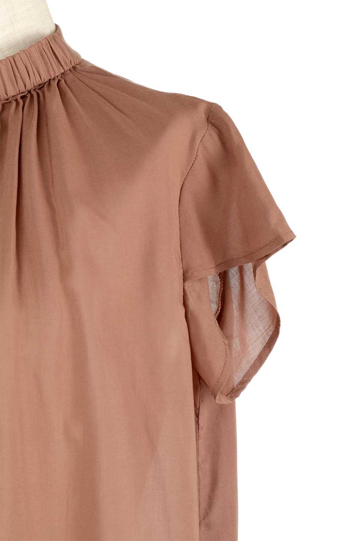 BackButtonGatherNeckBlouseバックボタン・ギャザーネックブラウス大人カジュアルに最適な海外ファッションのothers(その他インポートアイテム)のトップスやシャツ・ブラウス。ギャザーネックのドレープ感が特徴の半袖ブラウス。ゆとりのあるシルエットにチューリップスリーブの組み合わせも可愛いアイテム。/main-24