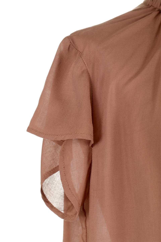 BackButtonGatherNeckBlouseバックボタン・ギャザーネックブラウス大人カジュアルに最適な海外ファッションのothers(その他インポートアイテム)のトップスやシャツ・ブラウス。ギャザーネックのドレープ感が特徴の半袖ブラウス。ゆとりのあるシルエットにチューリップスリーブの組み合わせも可愛いアイテム。/main-25
