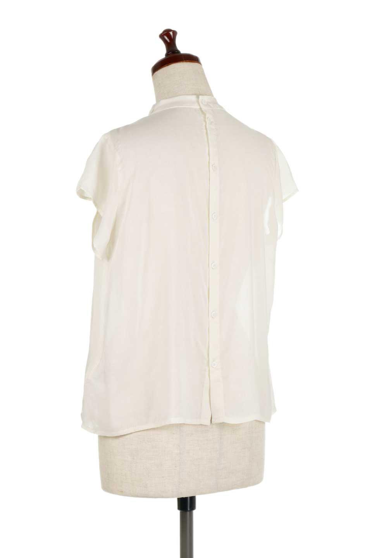 BackButtonGatherNeckBlouseバックボタン・ギャザーネックブラウス大人カジュアルに最適な海外ファッションのothers(その他インポートアイテム)のトップスやシャツ・ブラウス。ギャザーネックのドレープ感が特徴の半袖ブラウス。ゆとりのあるシルエットにチューリップスリーブの組み合わせも可愛いアイテム。/main-8