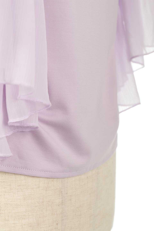 FlareSleeveChiffonTeeTopフレアスリーブ・シフォントップスfromDenmark大人カジュアルに最適な海外ファッションのothers(その他インポートアイテム)のトップスやカットソー。大きめのフレアスリーブがとても可愛い半袖トップス。ストレッチ素材の身頃と透け感のあるフレアスリーブの異素材ミックスが特徴。/main-21