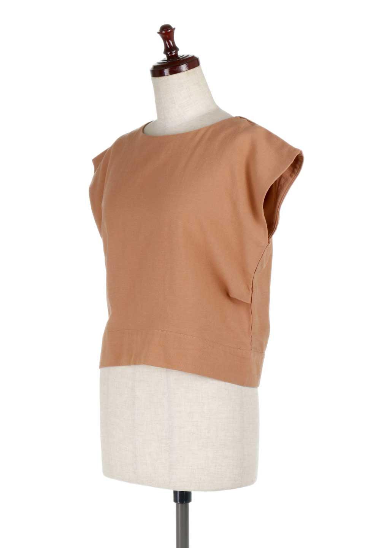 BackRibbonFrenchSleeveBlouseバックリボン付き・フレンチスリーブブラウス大人カジュアルに最適な海外ファッションのothers(その他インポートアイテム)のトップスやシャツ・ブラウス。短めのフレンチスリーブのリネンタッチ生地のブラウス。シンプルなボックス型のシルエットに腰部分のリボンのアクセントが可愛いアイテムです。/main-11