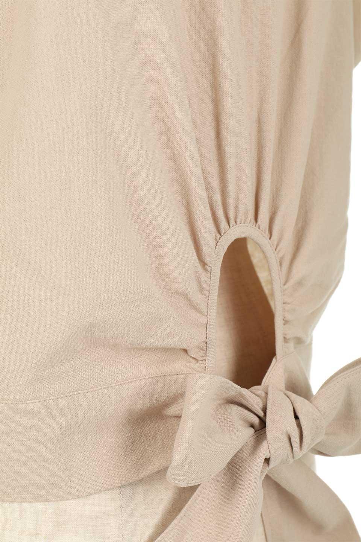 BackRibbonFrenchSleeveBlouseバックリボン付き・フレンチスリーブブラウス大人カジュアルに最適な海外ファッションのothers(その他インポートアイテム)のトップスやシャツ・ブラウス。短めのフレンチスリーブのリネンタッチ生地のブラウス。シンプルなボックス型のシルエットに腰部分のリボンのアクセントが可愛いアイテムです。/main-25