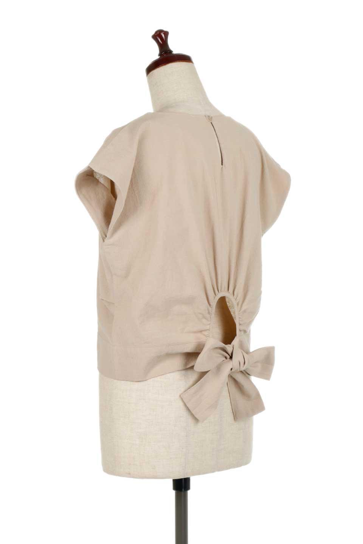BackRibbonFrenchSleeveBlouseバックリボン付き・フレンチスリーブブラウス大人カジュアルに最適な海外ファッションのothers(その他インポートアイテム)のトップスやシャツ・ブラウス。短めのフレンチスリーブのリネンタッチ生地のブラウス。シンプルなボックス型のシルエットに腰部分のリボンのアクセントが可愛いアイテムです。/main-8
