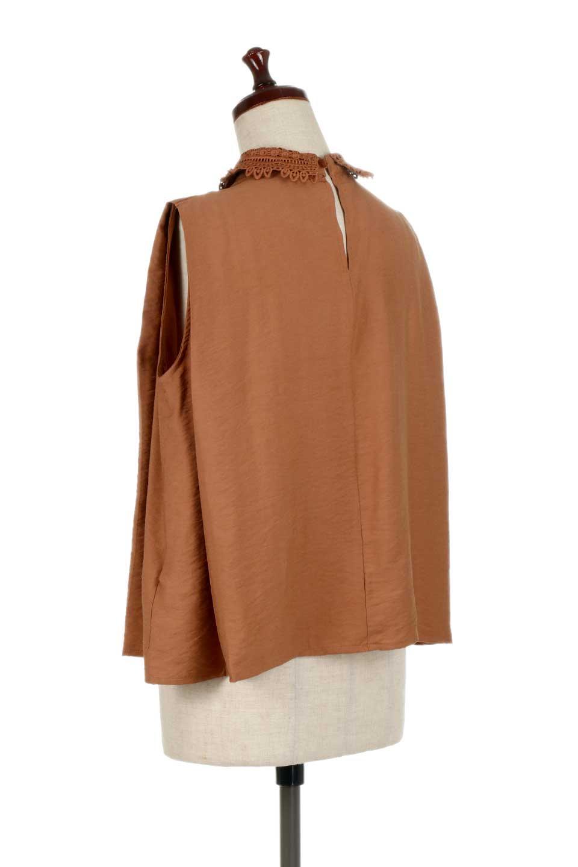 LaceCollarBoxBlouseレースカラー・ボックス型ブラウス大人カジュアルに最適な海外ファッションのothers(その他インポートアイテム)のトップスやシャツ・ブラウス。レースの襟がポイントのプルオーバーブラウス。スクエア型のユニークなシルエットはインでもアウトでも合わせやすいデザイン。/main-13