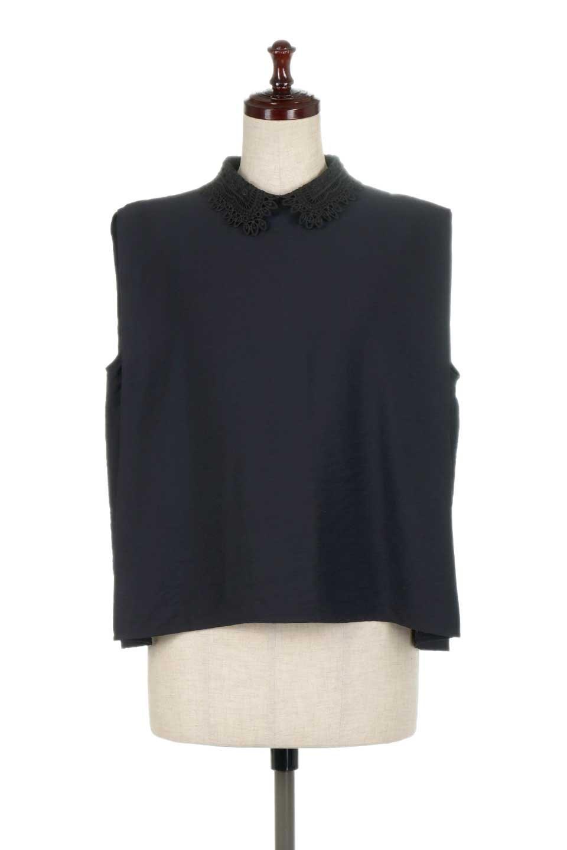 LaceCollarBoxBlouseレースカラー・ボックス型ブラウス大人カジュアルに最適な海外ファッションのothers(その他インポートアイテム)のトップスやシャツ・ブラウス。レースの襟がポイントのプルオーバーブラウス。スクエア型のユニークなシルエットはインでもアウトでも合わせやすいデザイン。/main-15