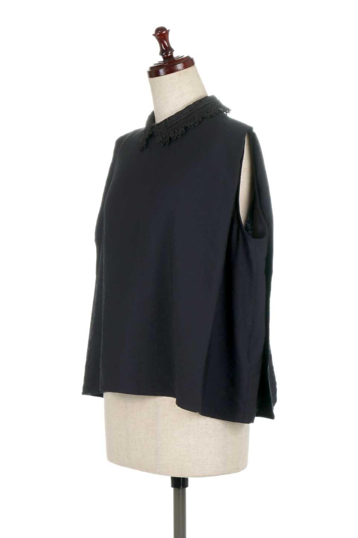 LaceCollarBoxBlouseレースカラー・ボックス型ブラウス大人カジュアルに最適な海外ファッションのothers(その他インポートアイテム)のトップスやシャツ・ブラウス。レースの襟がポイントのプルオーバーブラウス。スクエア型のユニークなシルエットはインでもアウトでも合わせやすいデザイン。/main-16