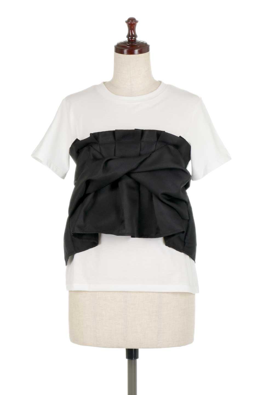 FauxLayeredBustierTopビスチェスタイル・ドッキングTシャツ大人カジュアルに最適な海外ファッションのothers(その他インポートアイテム)のトップスやTシャツ。シンプルTシャツとビスチェがドッキングしたトップス。ビスチェは縫製されているのでずれ落ちる心配もありません。/main-10