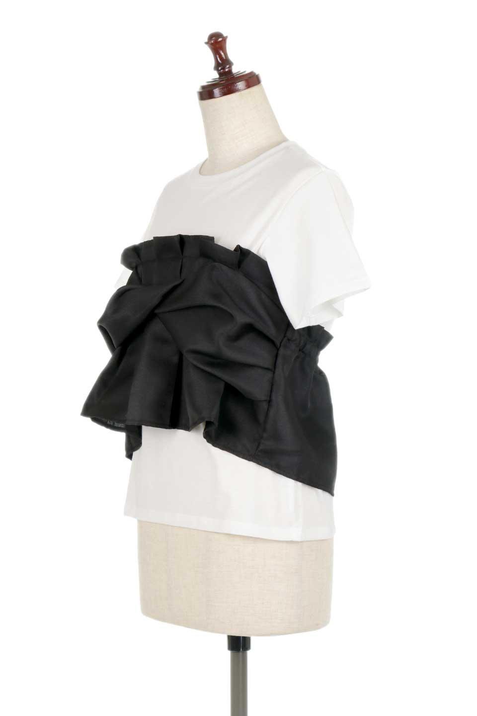 FauxLayeredBustierTopビスチェスタイル・ドッキングTシャツ大人カジュアルに最適な海外ファッションのothers(その他インポートアイテム)のトップスやTシャツ。シンプルTシャツとビスチェがドッキングしたトップス。ビスチェは縫製されているのでずれ落ちる心配もありません。/main-11