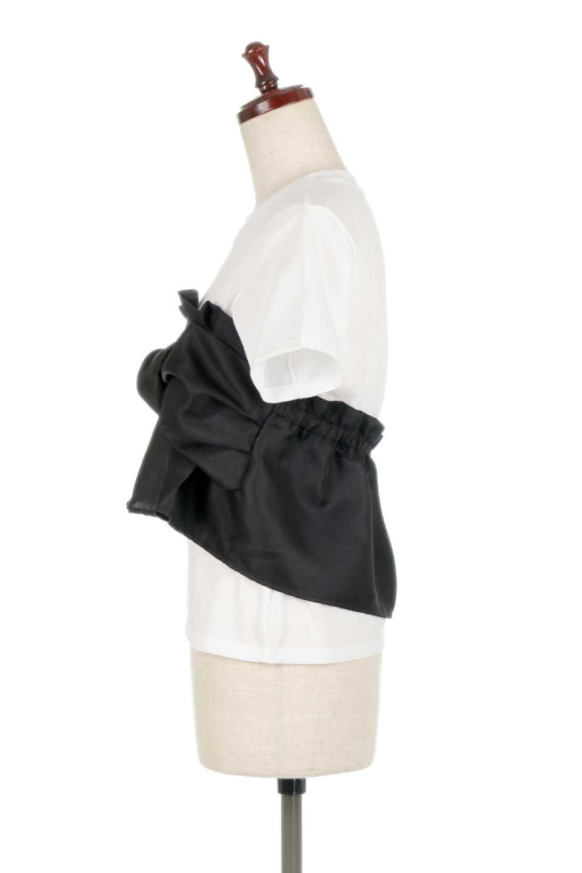 FauxLayeredBustierTopビスチェスタイル・ドッキングTシャツ大人カジュアルに最適な海外ファッションのothers(その他インポートアイテム)のトップスやTシャツ。シンプルTシャツとビスチェがドッキングしたトップス。ビスチェは縫製されているのでずれ落ちる心配もありません。/main-12