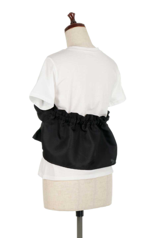 FauxLayeredBustierTopビスチェスタイル・ドッキングTシャツ大人カジュアルに最適な海外ファッションのothers(その他インポートアイテム)のトップスやTシャツ。シンプルTシャツとビスチェがドッキングしたトップス。ビスチェは縫製されているのでずれ落ちる心配もありません。/main-13