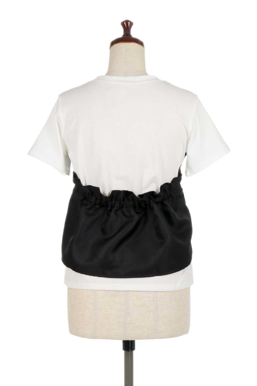 FauxLayeredBustierTopビスチェスタイル・ドッキングTシャツ大人カジュアルに最適な海外ファッションのothers(その他インポートアイテム)のトップスやTシャツ。シンプルTシャツとビスチェがドッキングしたトップス。ビスチェは縫製されているのでずれ落ちる心配もありません。/main-14