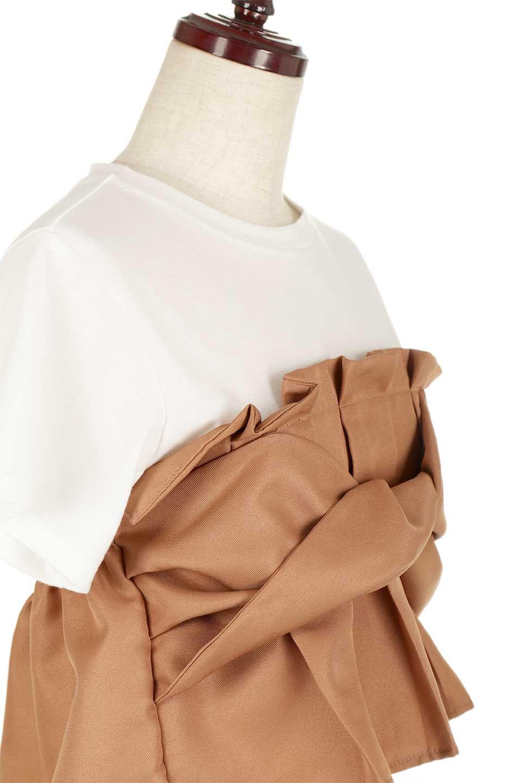 FauxLayeredBustierTopビスチェスタイル・ドッキングTシャツ大人カジュアルに最適な海外ファッションのothers(その他インポートアイテム)のトップスやTシャツ。シンプルTシャツとビスチェがドッキングしたトップス。ビスチェは縫製されているのでずれ落ちる心配もありません。/main-15