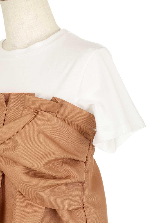 FauxLayeredBustierTopビスチェスタイル・ドッキングTシャツ大人カジュアルに最適な海外ファッションのothers(その他インポートアイテム)のトップスやTシャツ。シンプルTシャツとビスチェがドッキングしたトップス。ビスチェは縫製されているのでずれ落ちる心配もありません。/main-17