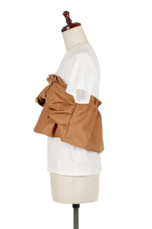 FauxLayeredBustierTopビスチェスタイル・ドッキングTシャツ大人カジュアルに最適な海外ファッションのothers(その他インポートアイテム)のトップスやTシャツ。シンプルTシャツとビスチェがドッキングしたトップス。ビスチェは縫製されているのでずれ落ちる心配もありません。/main-7