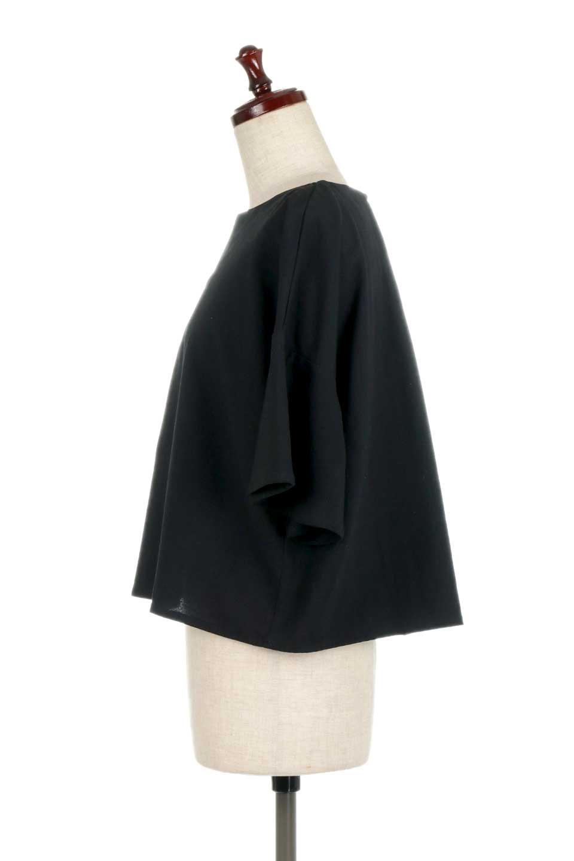 BackTuckFlareSleeveBlouseバックタック・フレアスリーブブラウス大人カジュアルに最適な海外ファッションのothers(その他インポートアイテム)のトップスやシャツ・ブラウス。サラリとしたリネン風の生地が涼し気なブラウス。広めのフレアスリーブとタックの入った身頃がボリューミーなアイテム。/main-12
