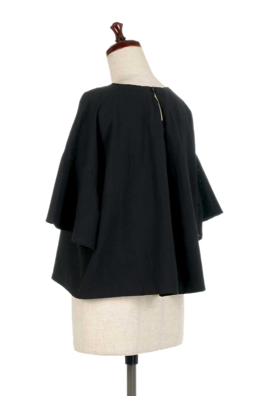 BackTuckFlareSleeveBlouseバックタック・フレアスリーブブラウス大人カジュアルに最適な海外ファッションのothers(その他インポートアイテム)のトップスやシャツ・ブラウス。サラリとしたリネン風の生地が涼し気なブラウス。広めのフレアスリーブとタックの入った身頃がボリューミーなアイテム。/main-13