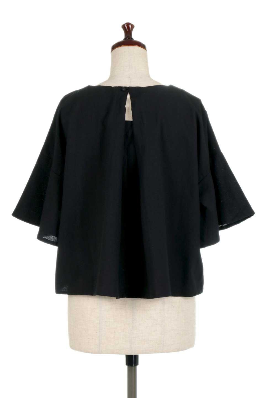 BackTuckFlareSleeveBlouseバックタック・フレアスリーブブラウス大人カジュアルに最適な海外ファッションのothers(その他インポートアイテム)のトップスやシャツ・ブラウス。サラリとしたリネン風の生地が涼し気なブラウス。広めのフレアスリーブとタックの入った身頃がボリューミーなアイテム。/main-14