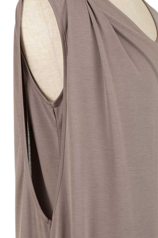 Cut&SewnLayeredDressレイヤード・カットソーワンピース大人カジュアルに最適な海外ファッションのothers(その他インポートアイテム)のワンピースやマキシワンピース。とてもなめらかな肌触りのカットソーワンピース。腰から伸びる両サイドのスリットが特徴です。/main-12