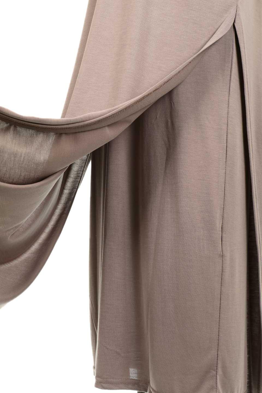 Cut&SewnLayeredDressレイヤード・カットソーワンピース大人カジュアルに最適な海外ファッションのothers(その他インポートアイテム)のワンピースやマキシワンピース。とてもなめらかな肌触りのカットソーワンピース。腰から伸びる両サイドのスリットが特徴です。/main-15