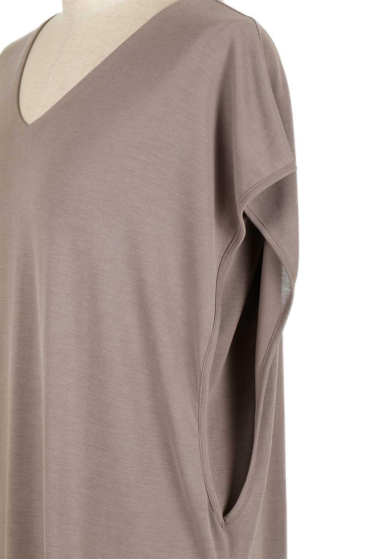 Cut&SewnLayeredDressレイヤード・カットソーワンピース大人カジュアルに最適な海外ファッションのothers(その他インポートアイテム)のワンピースやマキシワンピース。とてもなめらかな肌触りのカットソーワンピース。腰から伸びる両サイドのスリットが特徴です。/main-8
