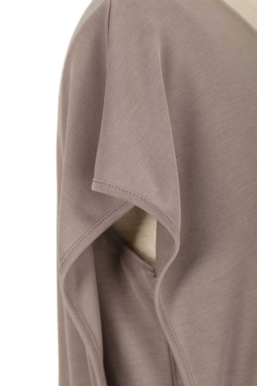 Cut&SewnLayeredDressレイヤード・カットソーワンピース大人カジュアルに最適な海外ファッションのothers(その他インポートアイテム)のワンピースやマキシワンピース。とてもなめらかな肌触りのカットソーワンピース。腰から伸びる両サイドのスリットが特徴です。/main-9
