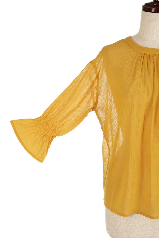 CandySleeve2WayGauzeBlouseキャンディースリーブ・2Wayブラウス大人カジュアルに最適な海外ファッションのothers(その他インポートアイテム)のトップスやシャツ・ブラウス。ソフトなガーゼ生地が気持ち良い7部袖ブラウス。適度な透け感があり、大人っぽい着こなしが楽しめます。/main-17