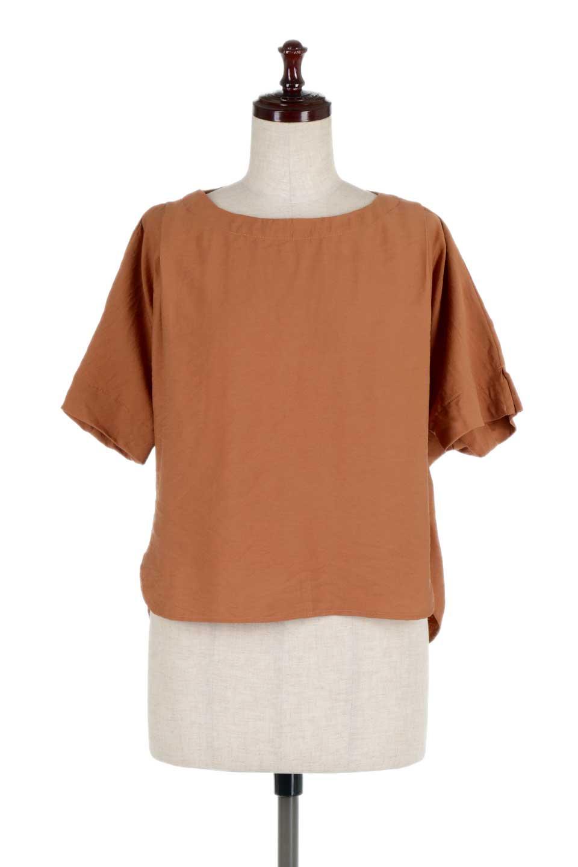 FrontTuckShortSleeveBlouseフロントタックブラウス大人カジュアルに最適な海外ファッションのothers(その他インポートアイテム)のトップスやシャツ・ブラウス。大きめシルエットで抜け感のある半袖ブラウス。短め丈なのでインでもアウトでも楽しめます。/main-10