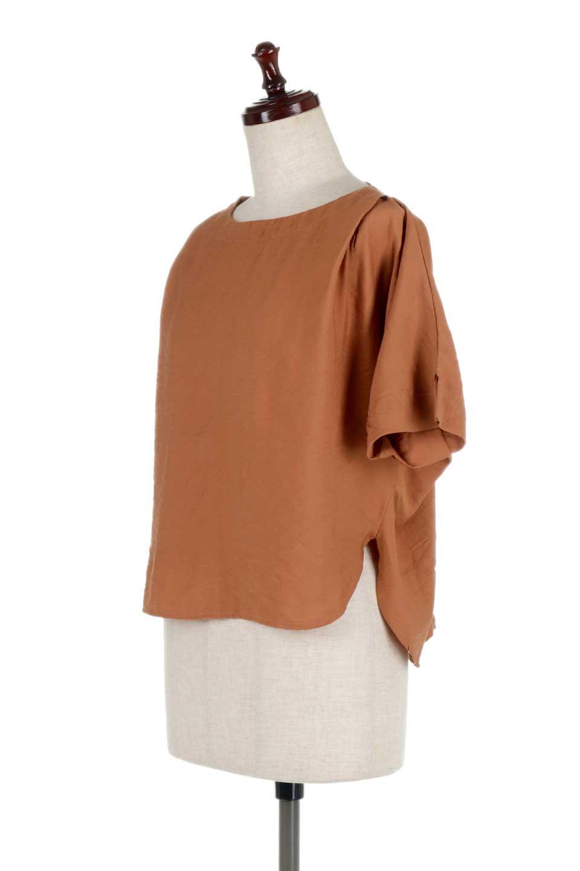 FrontTuckShortSleeveBlouseフロントタックブラウス大人カジュアルに最適な海外ファッションのothers(その他インポートアイテム)のトップスやシャツ・ブラウス。大きめシルエットで抜け感のある半袖ブラウス。短め丈なのでインでもアウトでも楽しめます。/main-11