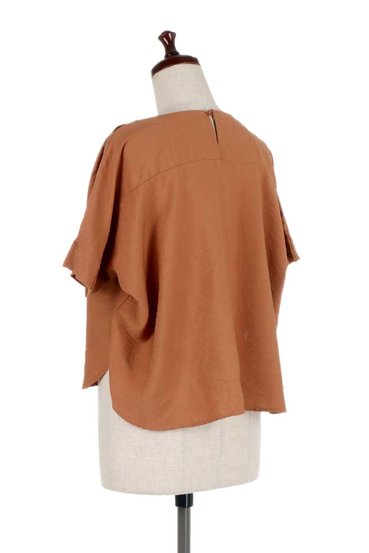 FrontTuckShortSleeveBlouseフロントタックブラウス大人カジュアルに最適な海外ファッションのothers(その他インポートアイテム)のトップスやシャツ・ブラウス。大きめシルエットで抜け感のある半袖ブラウス。短め丈なのでインでもアウトでも楽しめます。/main-13