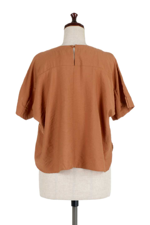FrontTuckShortSleeveBlouseフロントタックブラウス大人カジュアルに最適な海外ファッションのothers(その他インポートアイテム)のトップスやシャツ・ブラウス。大きめシルエットで抜け感のある半袖ブラウス。短め丈なのでインでもアウトでも楽しめます。/main-14