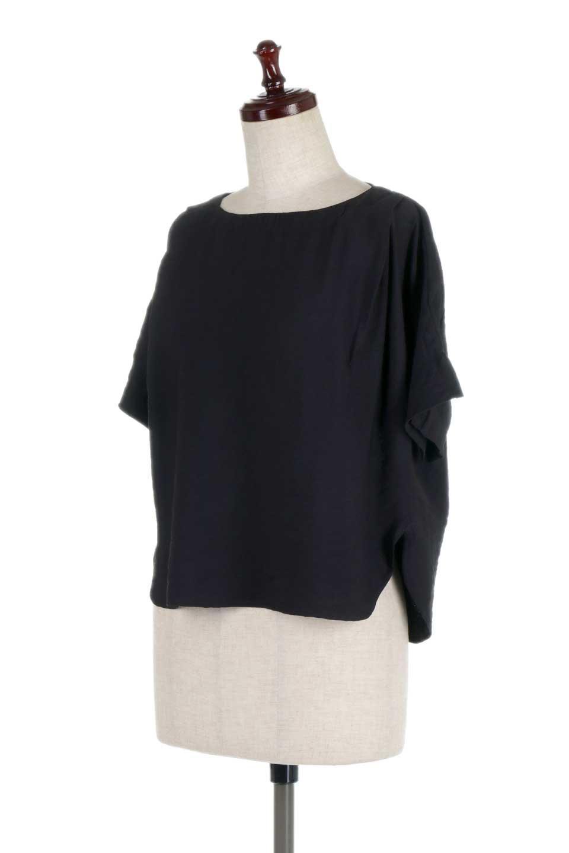 FrontTuckShortSleeveBlouseフロントタックブラウス大人カジュアルに最適な海外ファッションのothers(その他インポートアイテム)のトップスやシャツ・ブラウス。大きめシルエットで抜け感のある半袖ブラウス。短め丈なのでインでもアウトでも楽しめます。/main-16