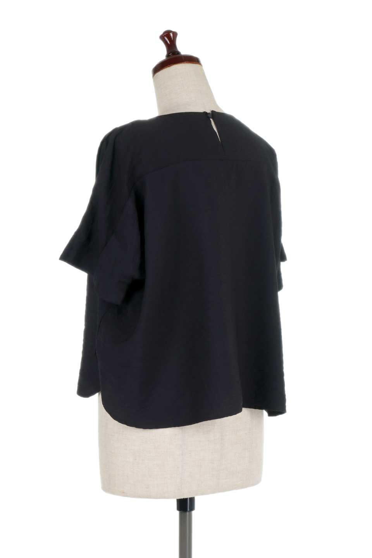 FrontTuckShortSleeveBlouseフロントタックブラウス大人カジュアルに最適な海外ファッションのothers(その他インポートアイテム)のトップスやシャツ・ブラウス。大きめシルエットで抜け感のある半袖ブラウス。短め丈なのでインでもアウトでも楽しめます。/main-18
