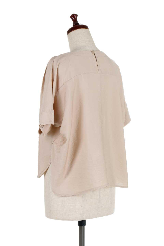FrontTuckShortSleeveBlouseフロントタックブラウス大人カジュアルに最適な海外ファッションのothers(その他インポートアイテム)のトップスやシャツ・ブラウス。大きめシルエットで抜け感のある半袖ブラウス。短め丈なのでインでもアウトでも楽しめます。/main-8
