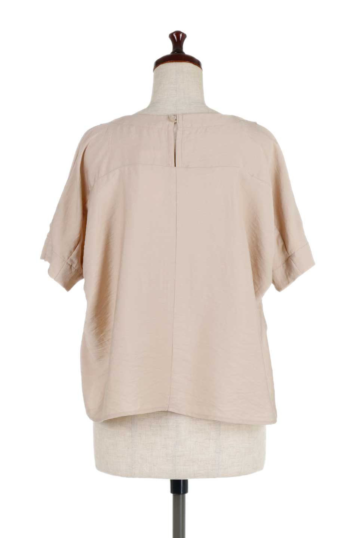 FrontTuckShortSleeveBlouseフロントタックブラウス大人カジュアルに最適な海外ファッションのothers(その他インポートアイテム)のトップスやシャツ・ブラウス。大きめシルエットで抜け感のある半袖ブラウス。短め丈なのでインでもアウトでも楽しめます。/main-9