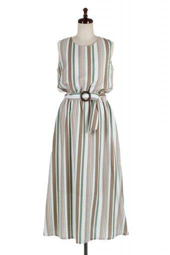 Multi Striped Long Dress マルチストライプ・マキシワンピース / 大人カジュアルに最適な海外ファッションが得意な福島市のセレクトショップbloom