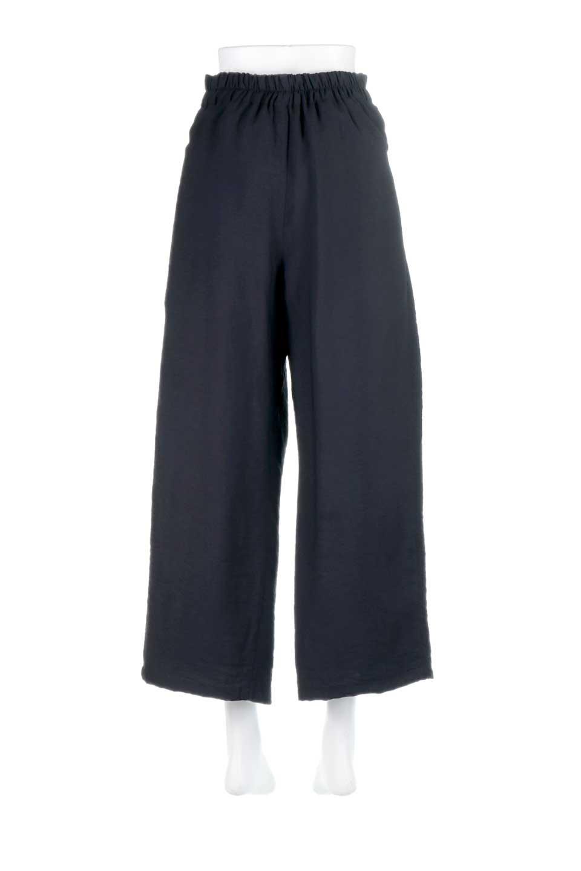 FrontRibbonDeepTuckWidePantsリボン付き・ワイドタックパンツ大人カジュアルに最適な海外ファッションのothers(その他インポートアイテム)のボトムやパンツ。フロントのリボンが特徴のワイドパンツ。ソフトな生地を使用した涼しげなアイテム。/main-19